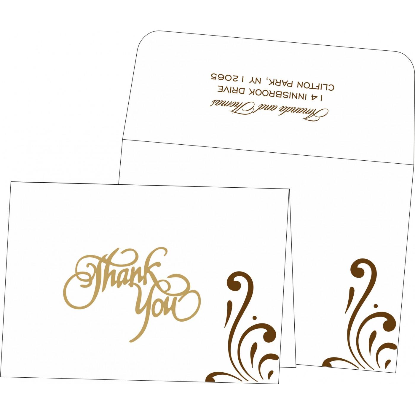 Thank You Cards : CTYC-8223O - IndianWeddingCards