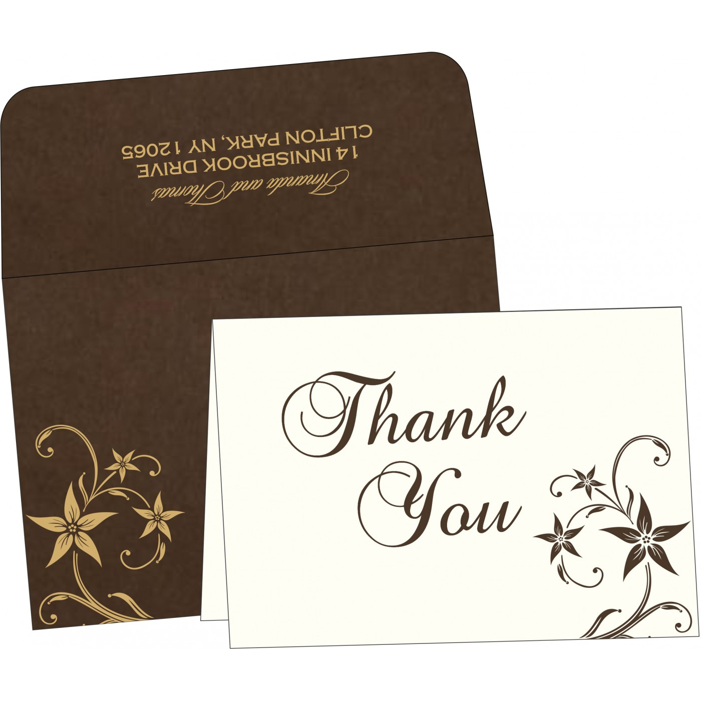 Thank You Cards : CTYC-8225C - IndianWeddingCards