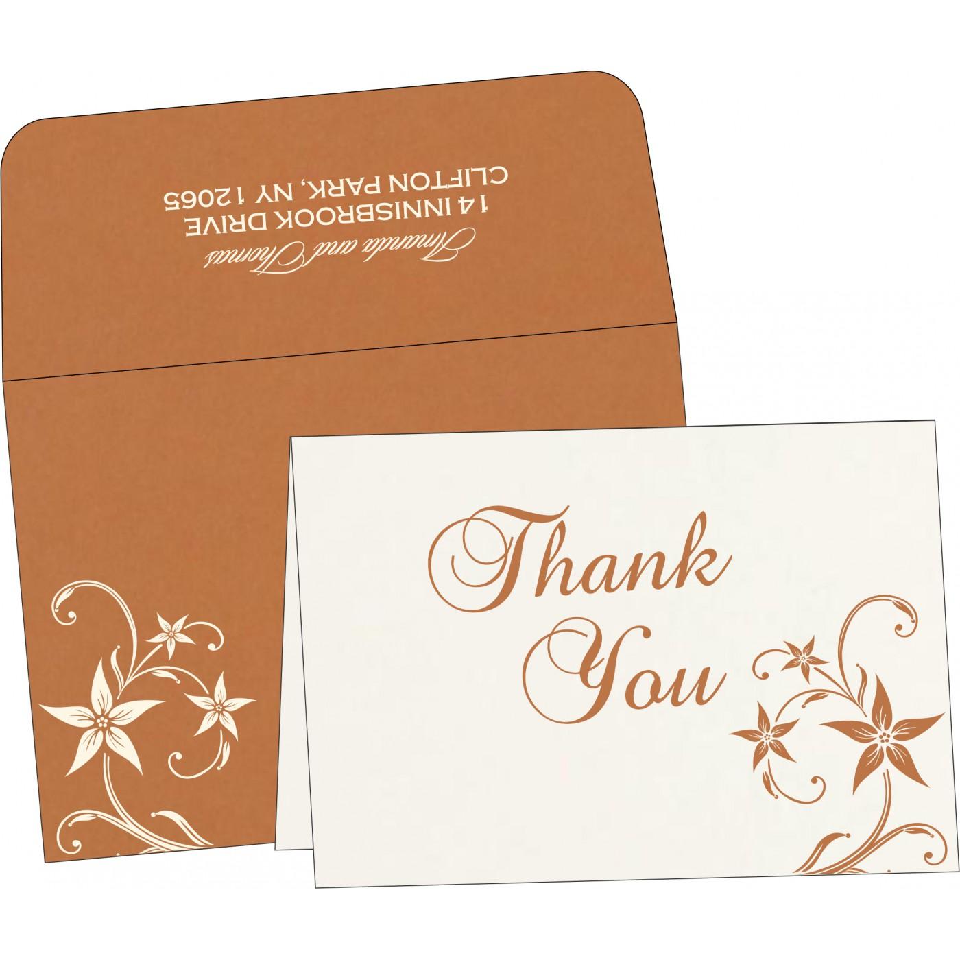 Thank You Cards : CTYC-8225J - IndianWeddingCards