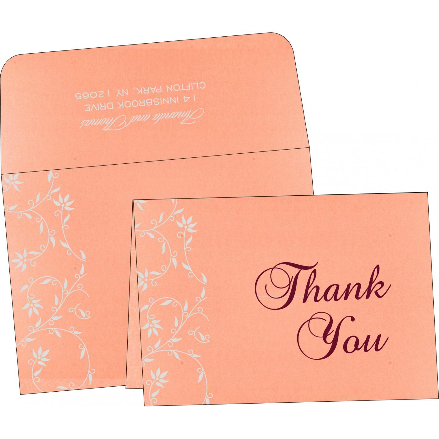 Thank You Cards : CTYC-8226B - IndianWeddingCards