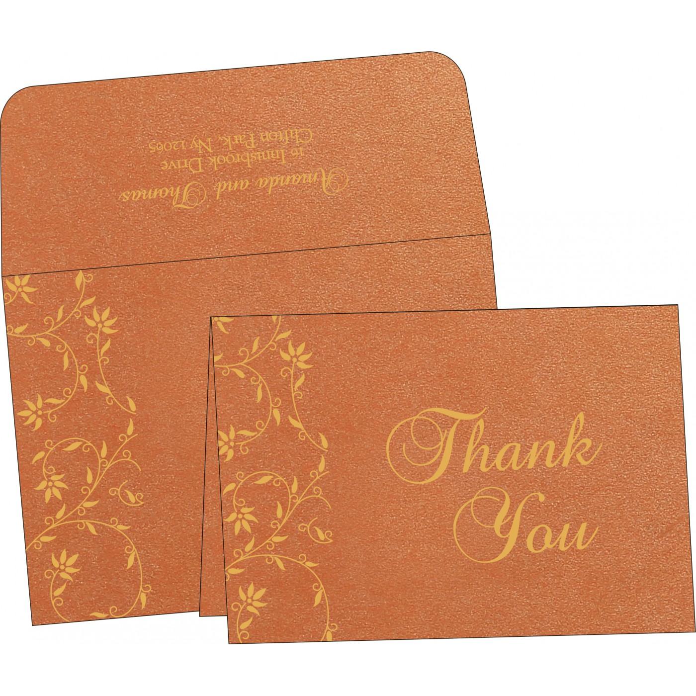 Thank You Cards : CTYC-8226E - IndianWeddingCards