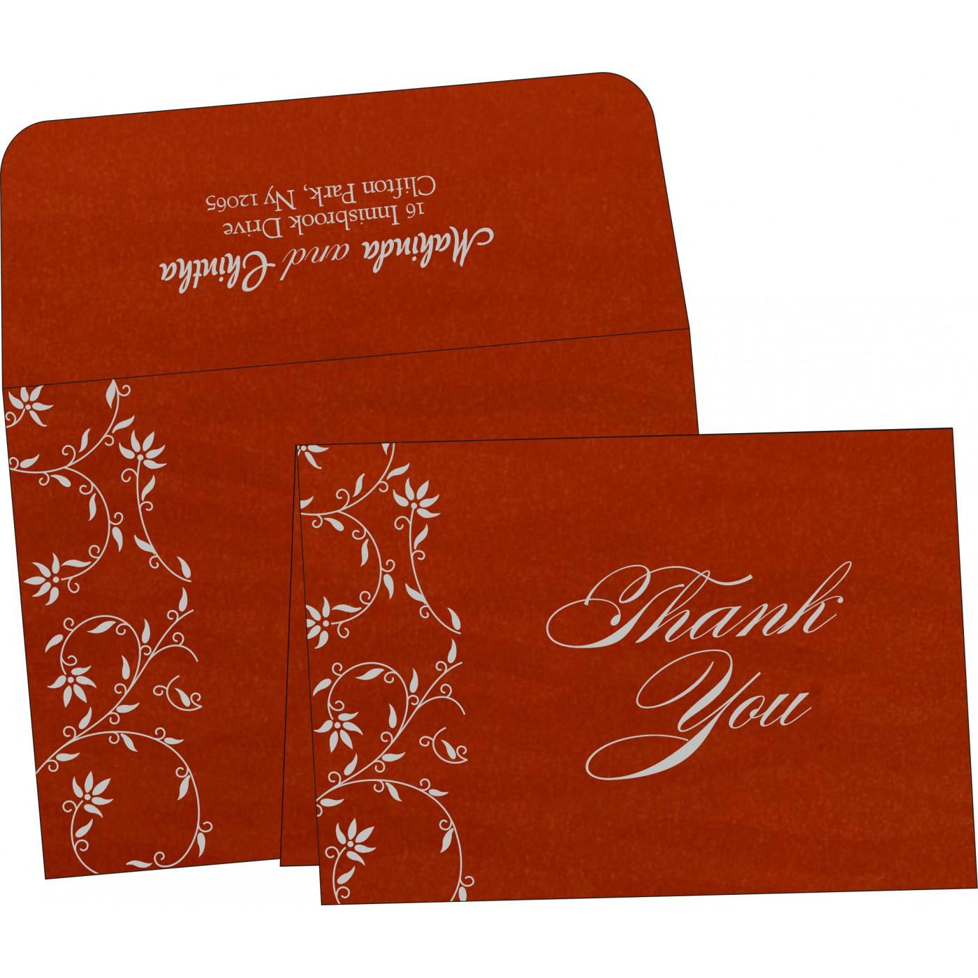 Thank You Cards : CTYC-8226I - IndianWeddingCards