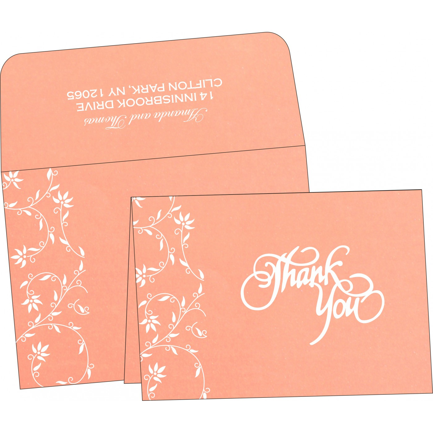 Thank You Cards : CTYC-8226K - IndianWeddingCards