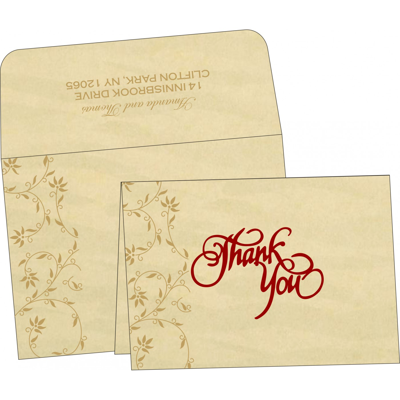 Thank You Cards : CTYC-8226S - IndianWeddingCards