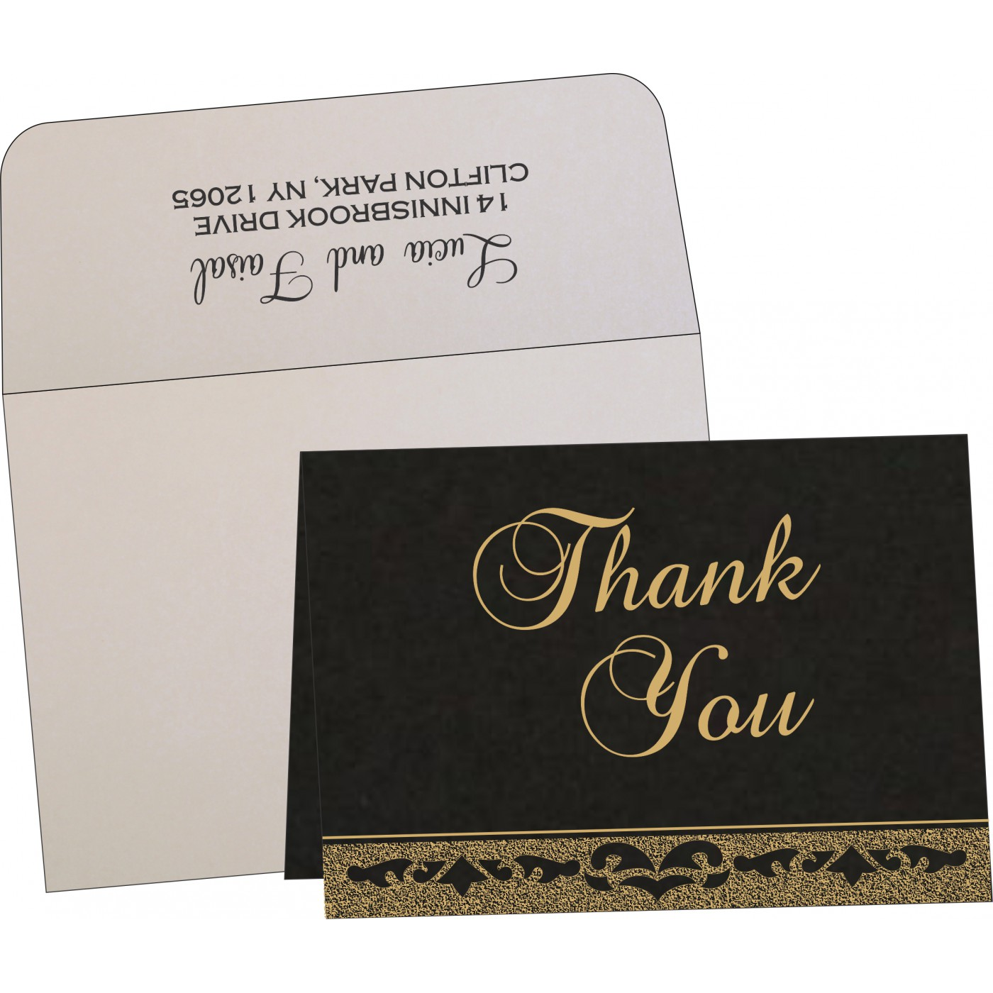 Thank You Cards : CTYC-8227A - IndianWeddingCards