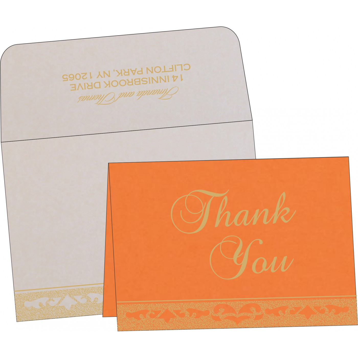 Thank You Cards : CTYC-8227D - IndianWeddingCards