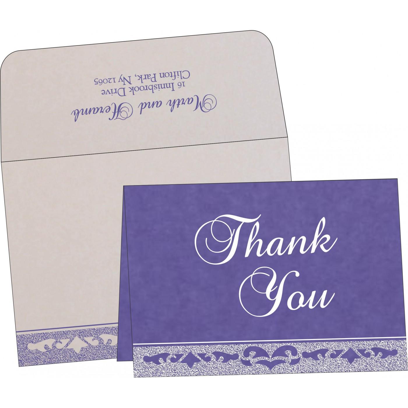Thank You Cards : CTYC-8227E - IndianWeddingCards