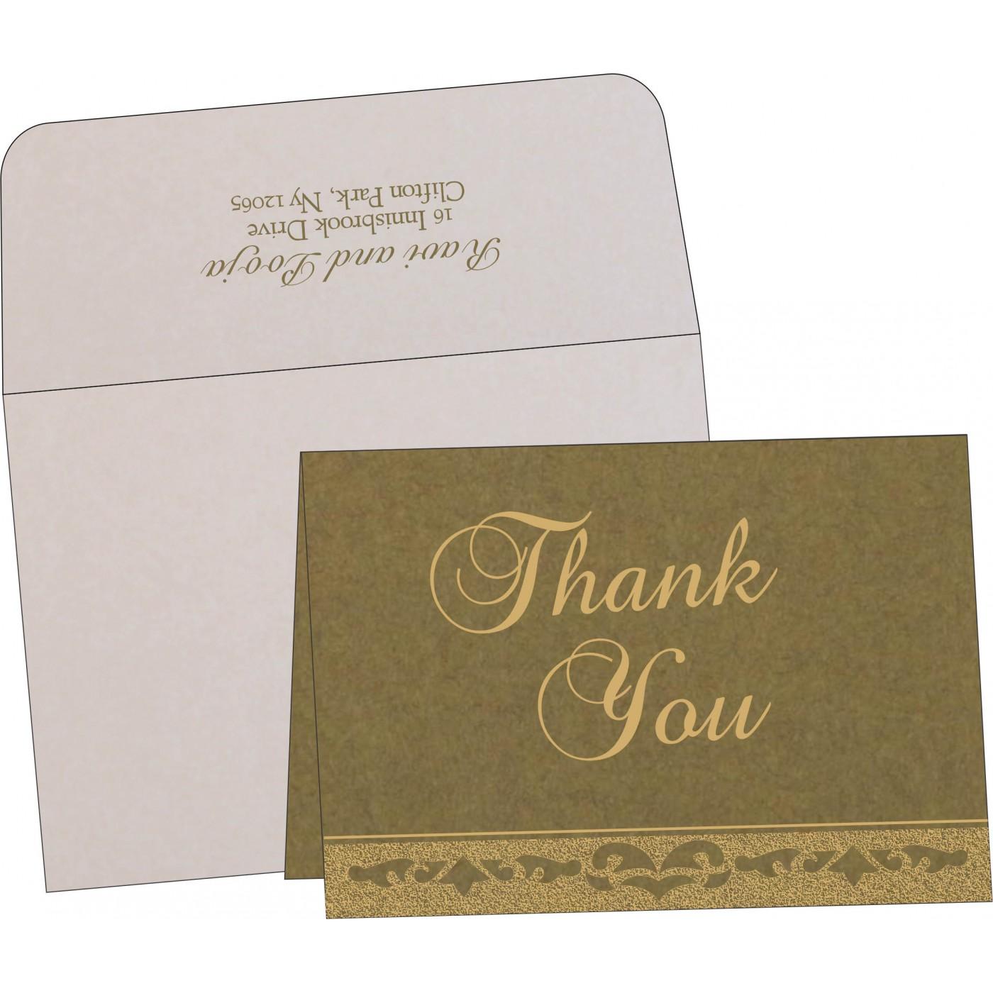 Thank You Cards : CTYC-8227F - IndianWeddingCards