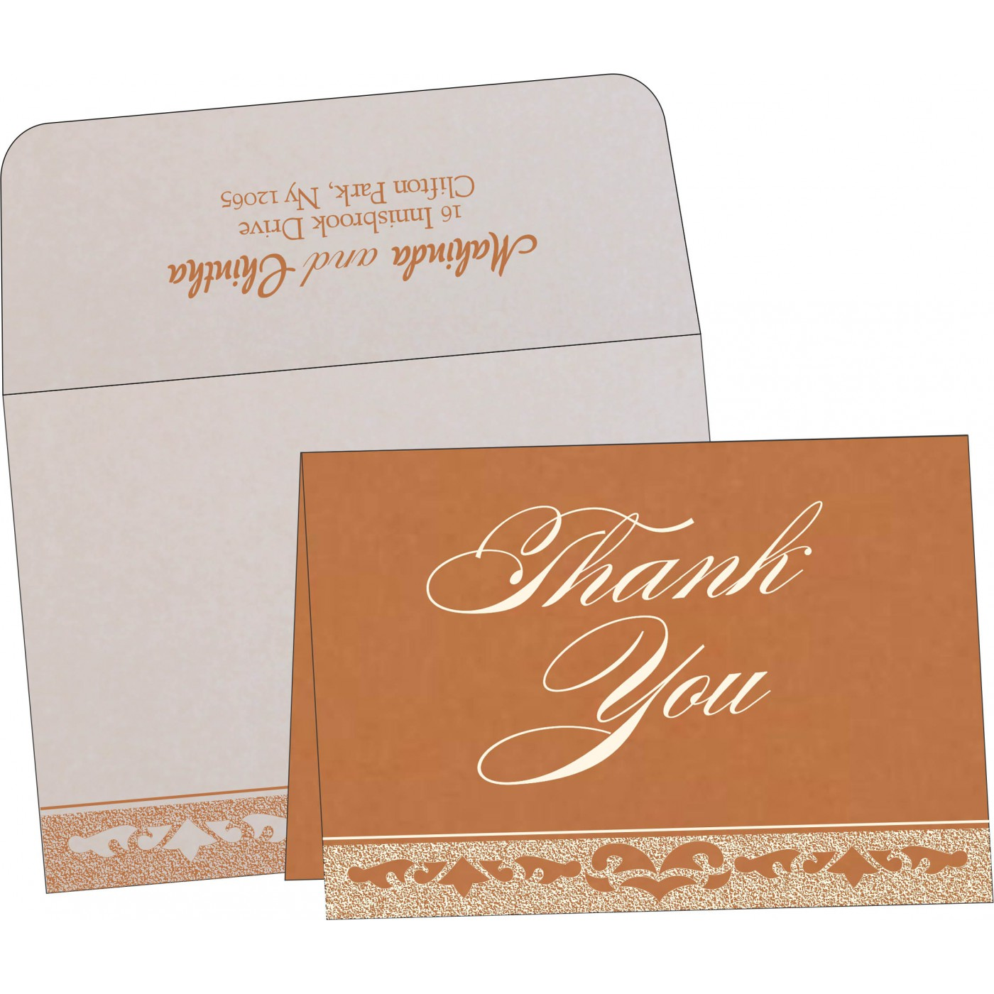 Thank You Cards : CTYC-8227H - IndianWeddingCards