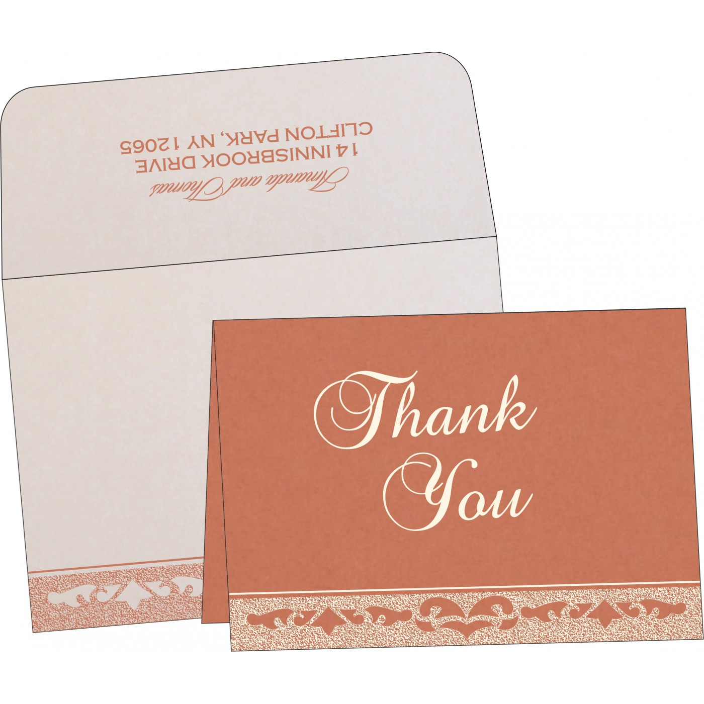 Thank You Cards : CTYC-8227L - IndianWeddingCards