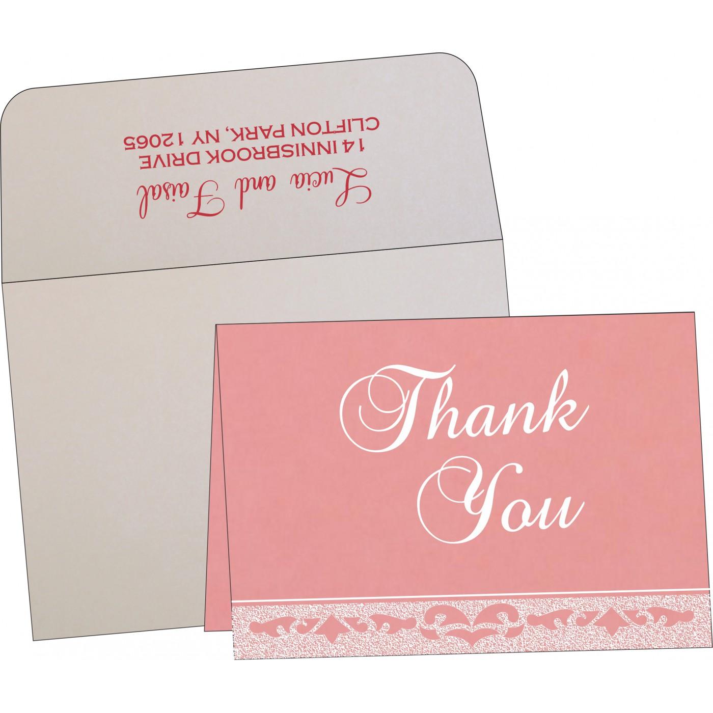 Thank You Cards : CTYC-8227M - IndianWeddingCards