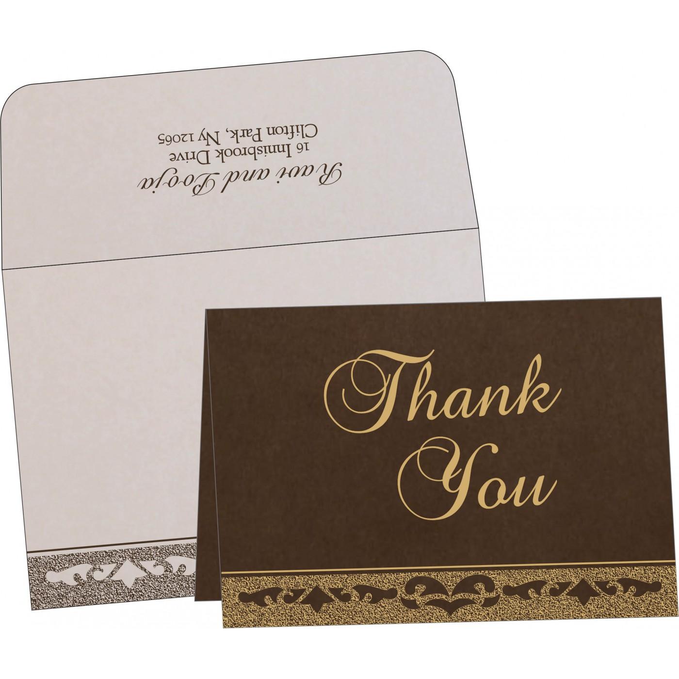 Thank You Cards : CTYC-8227P - IndianWeddingCards