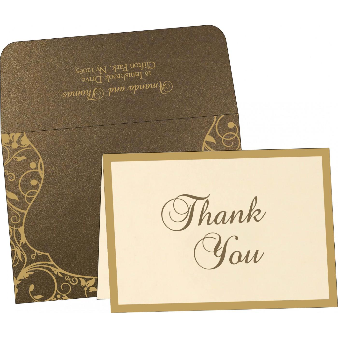 Thank You Cards : CTYC-8229C - IndianWeddingCards