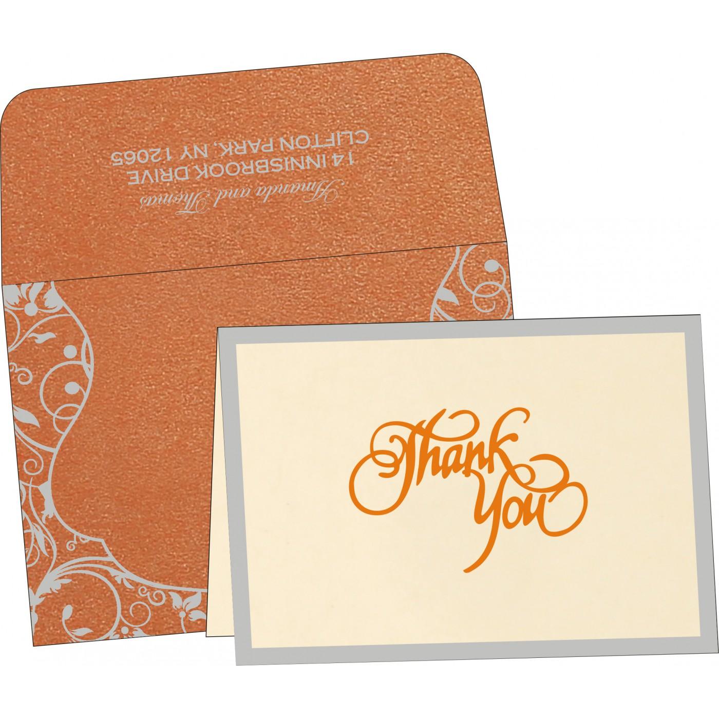 Thank You Cards : CTYC-8229I - IndianWeddingCards