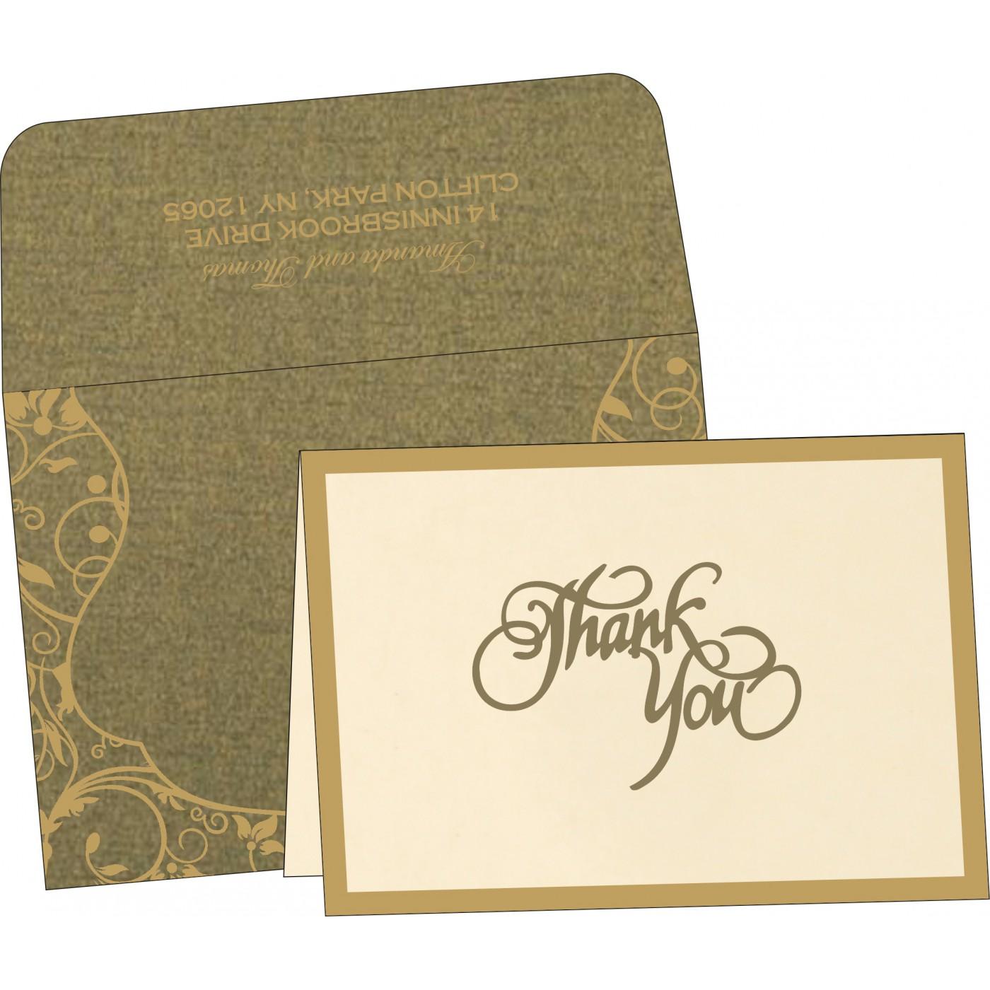 Thank You Cards : CTYC-8229P - IndianWeddingCards