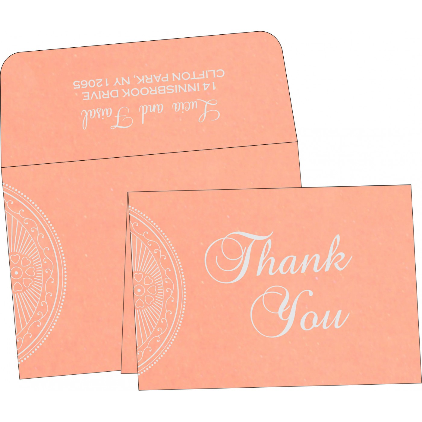 Thank You Cards : CTYC-8230A - IndianWeddingCards
