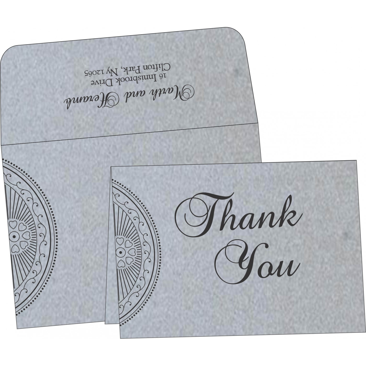 Thank You Cards : CTYC-8230F - IndianWeddingCards