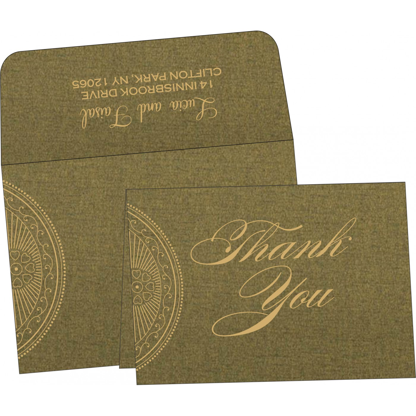 Thank You Cards : CTYC-8230L - IndianWeddingCards