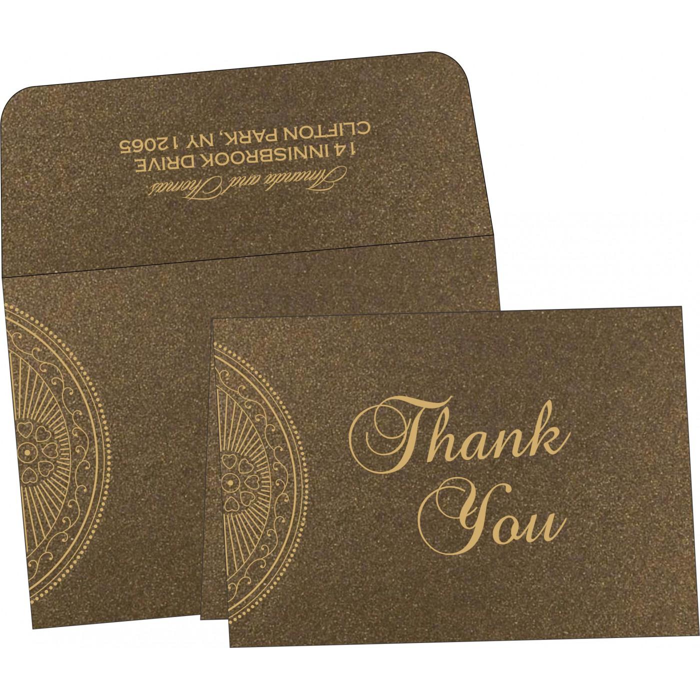 Thank You Cards : CTYC-8230M - IndianWeddingCards