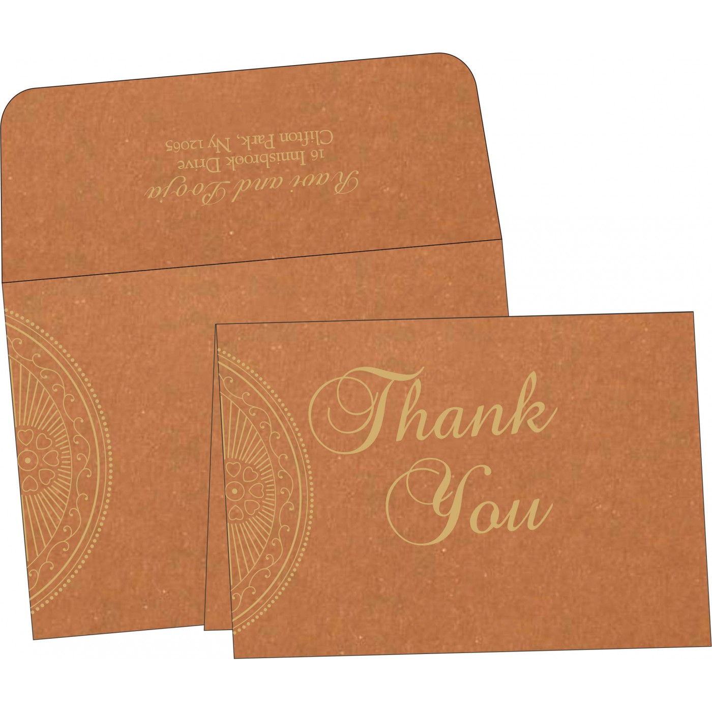 Thank You Cards : CTYC-8230Q - IndianWeddingCards