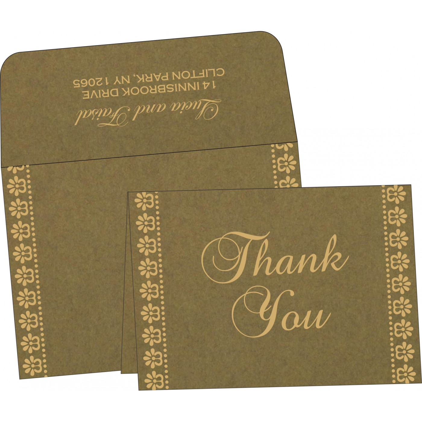 Thank You Cards : CTYC-8231B - IndianWeddingCards