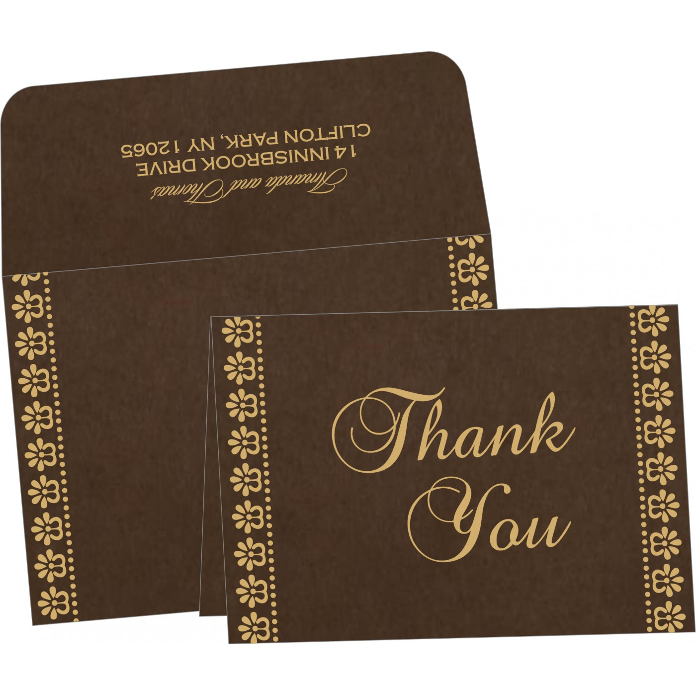 Thank You Cards : CTYC-8231D - IndianWeddingCards