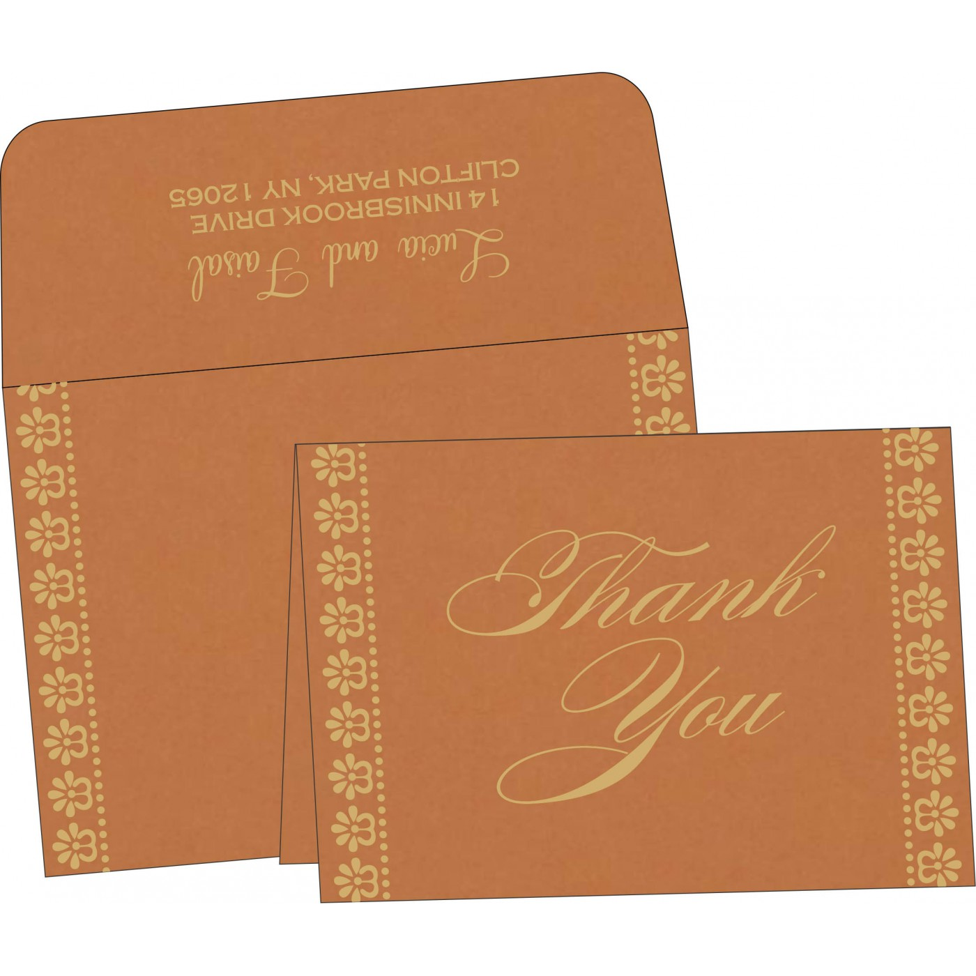 Thank You Cards : CTYC-8231H - IndianWeddingCards