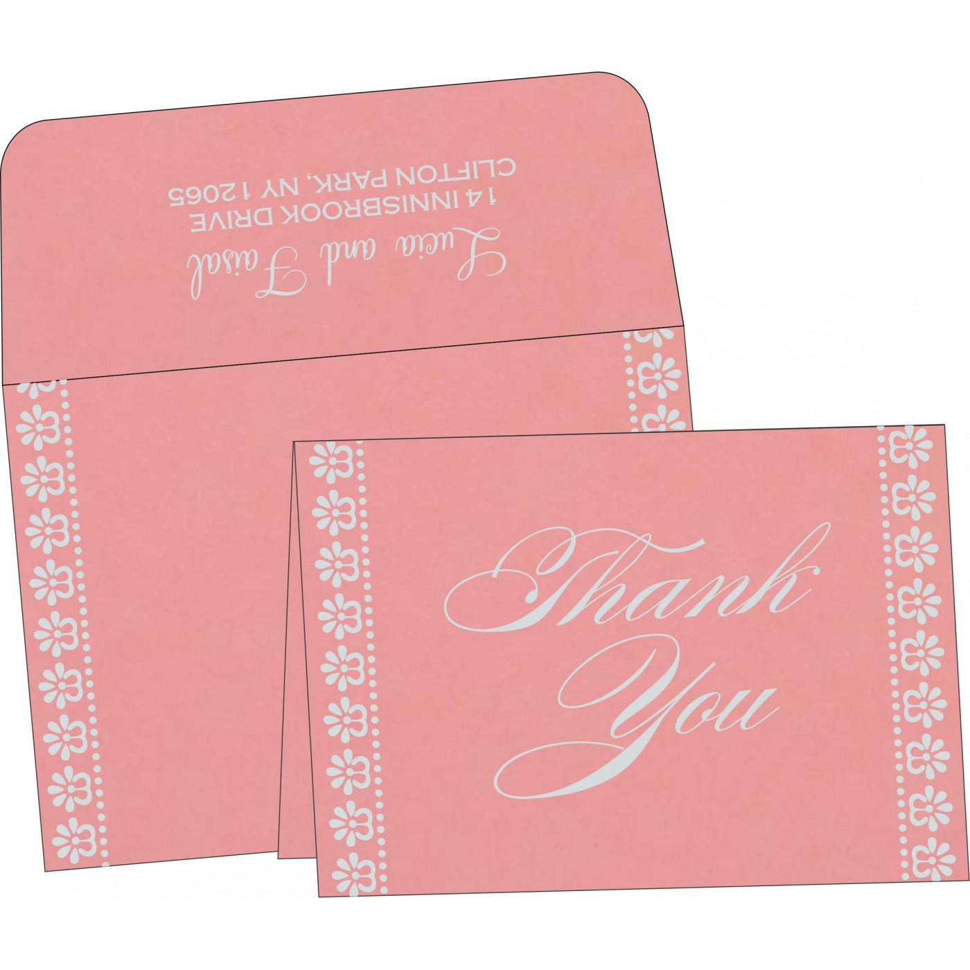 Thank You Cards : CTYC-8231P - IndianWeddingCards