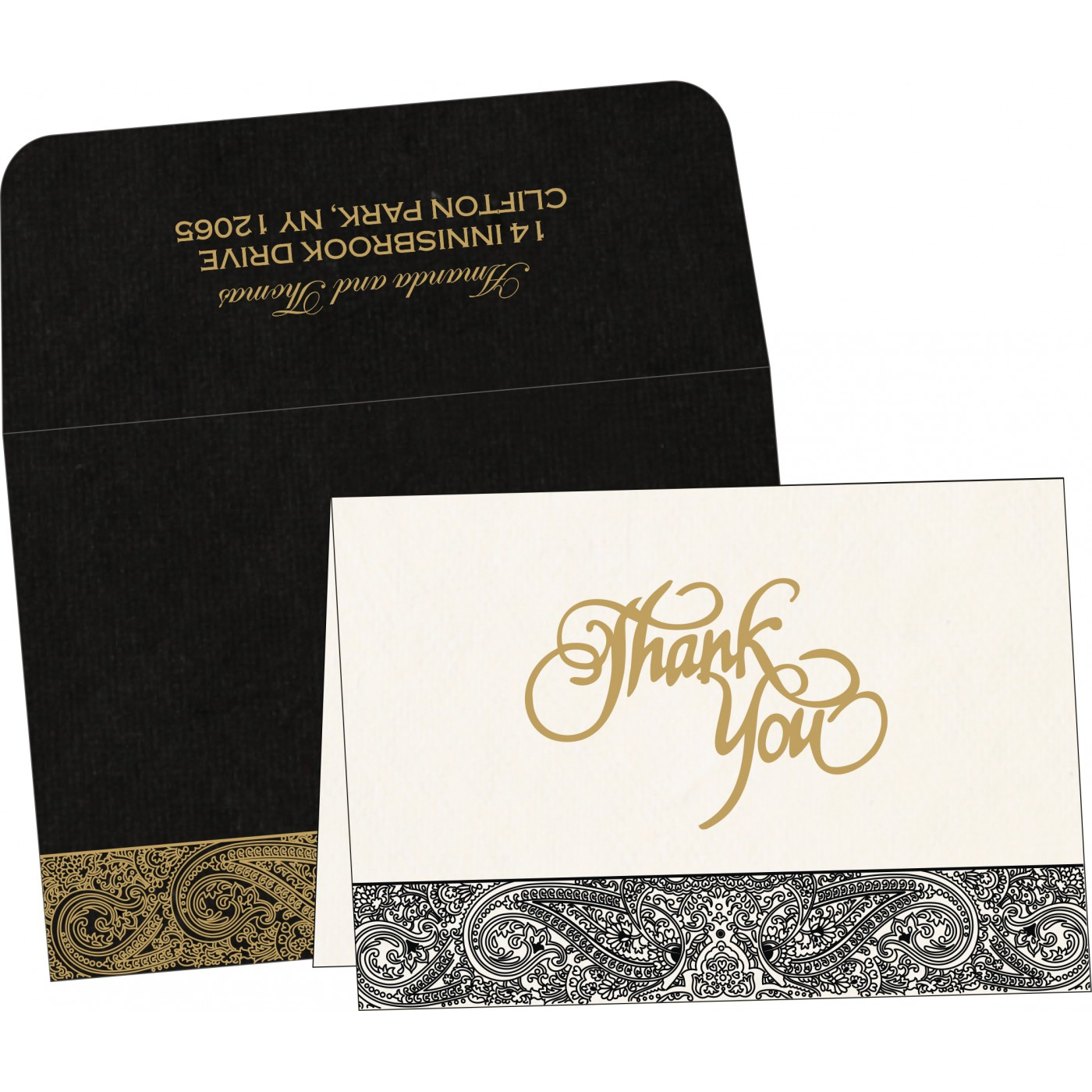 Thank You Cards : CTYC-8234A - IndianWeddingCards