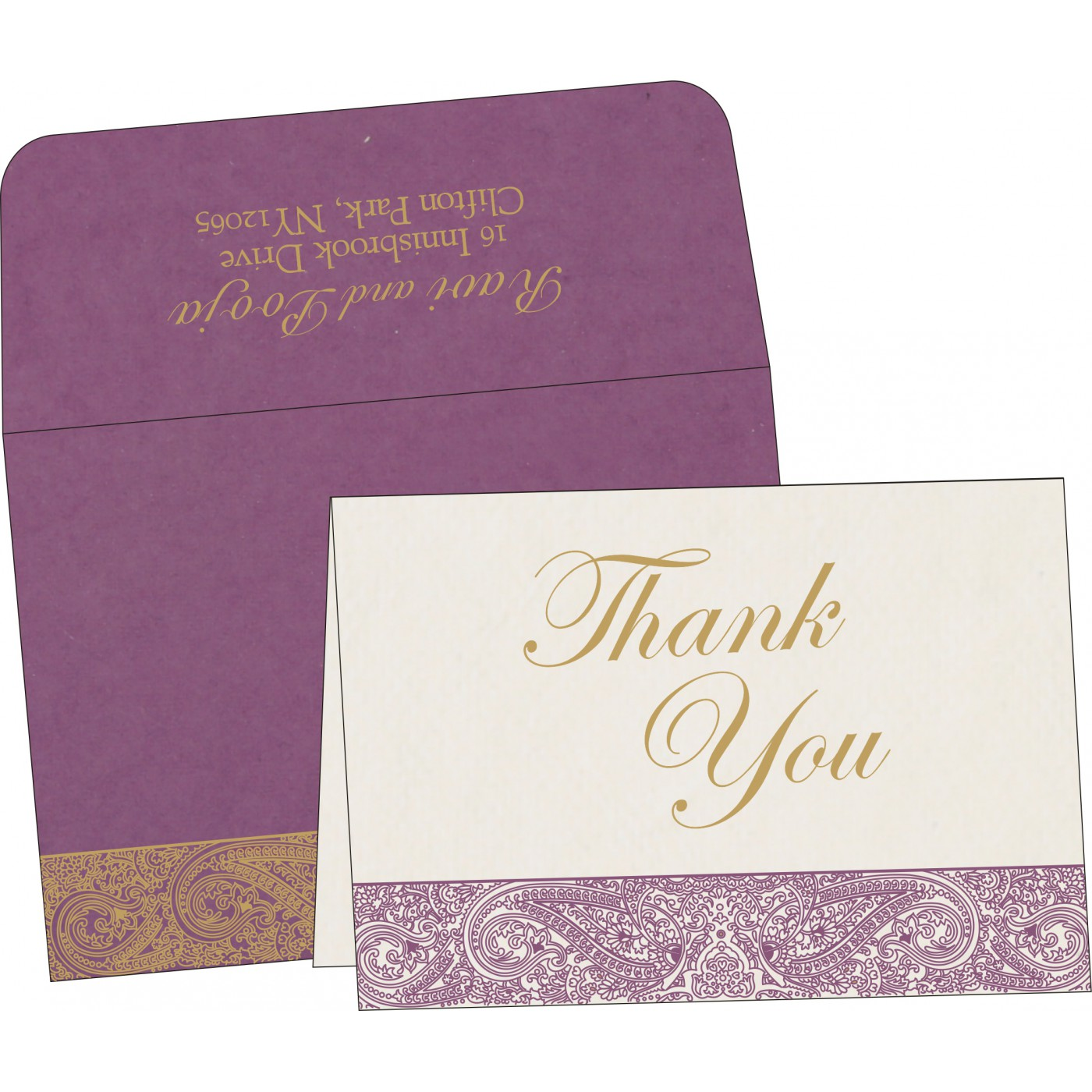 Thank You Cards : CTYC-8234D - IndianWeddingCards