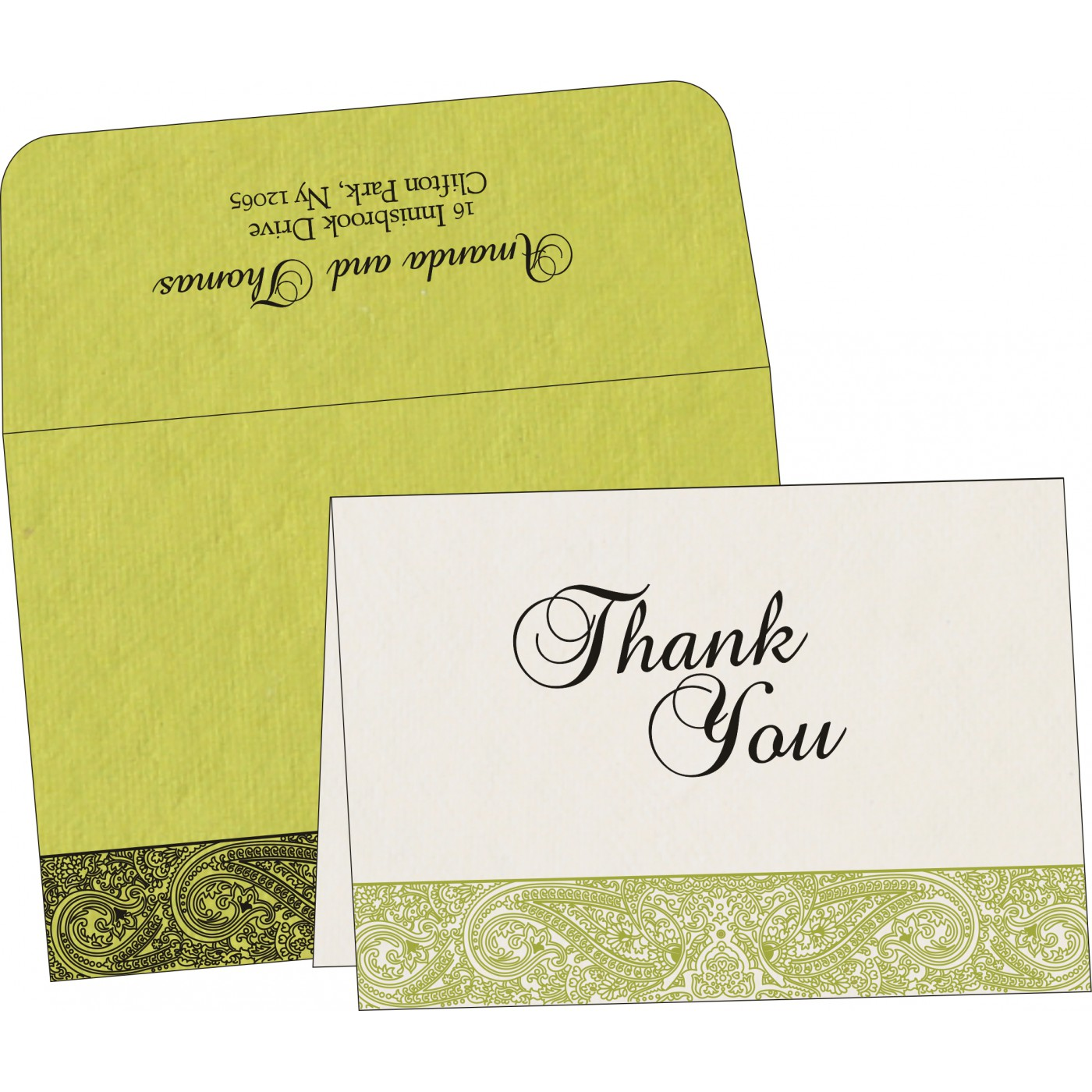 Thank You Cards : CTYC-8234H - IndianWeddingCards