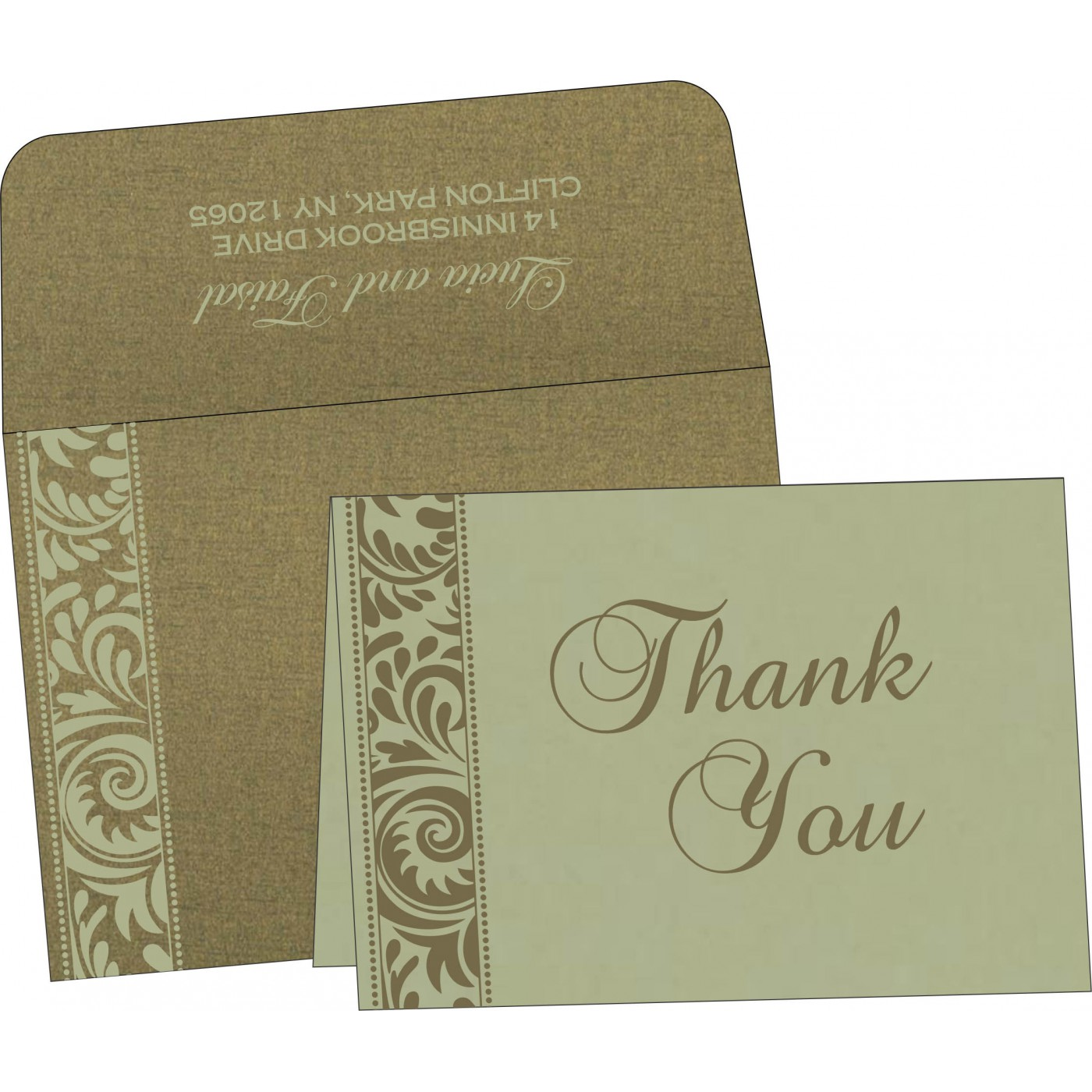 Thank You Cards : CTYC-8235A - IndianWeddingCards