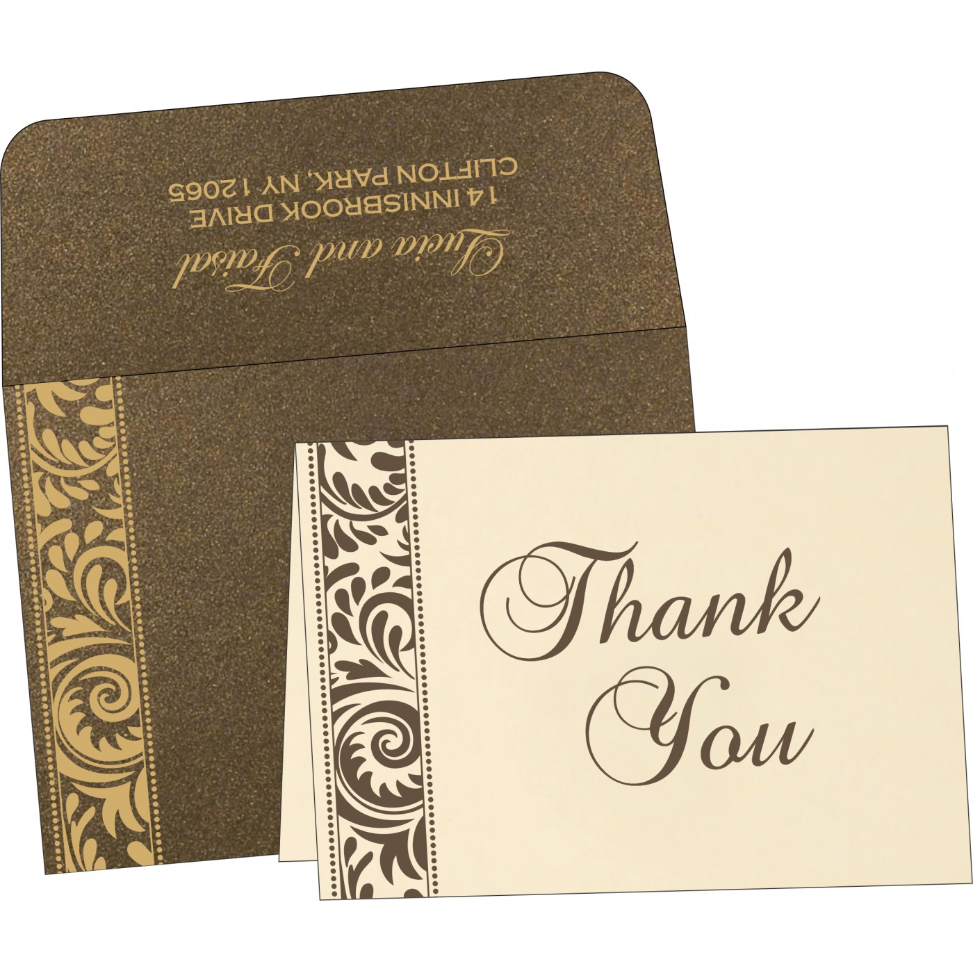 Thank You Cards : CTYC-8235K - IndianWeddingCards
