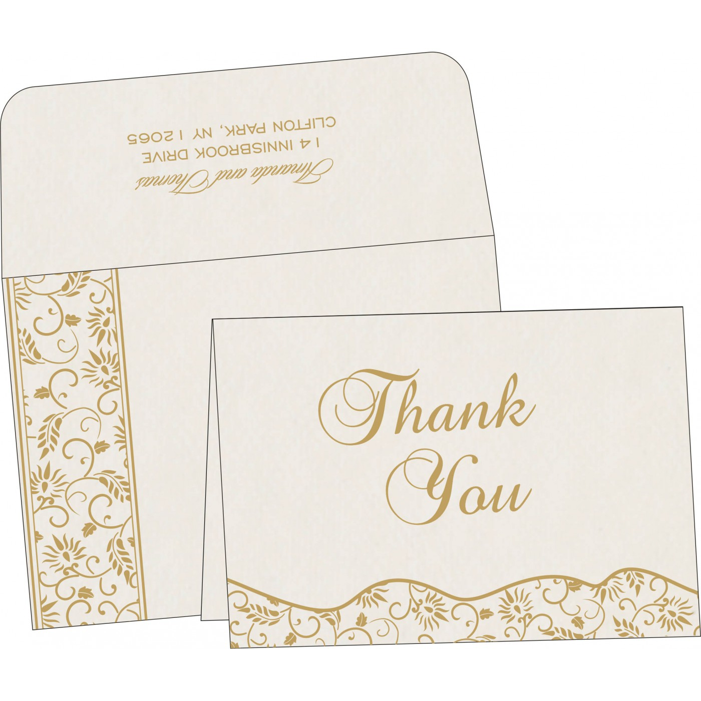 Thank You Cards : CTYC-8236B - IndianWeddingCards