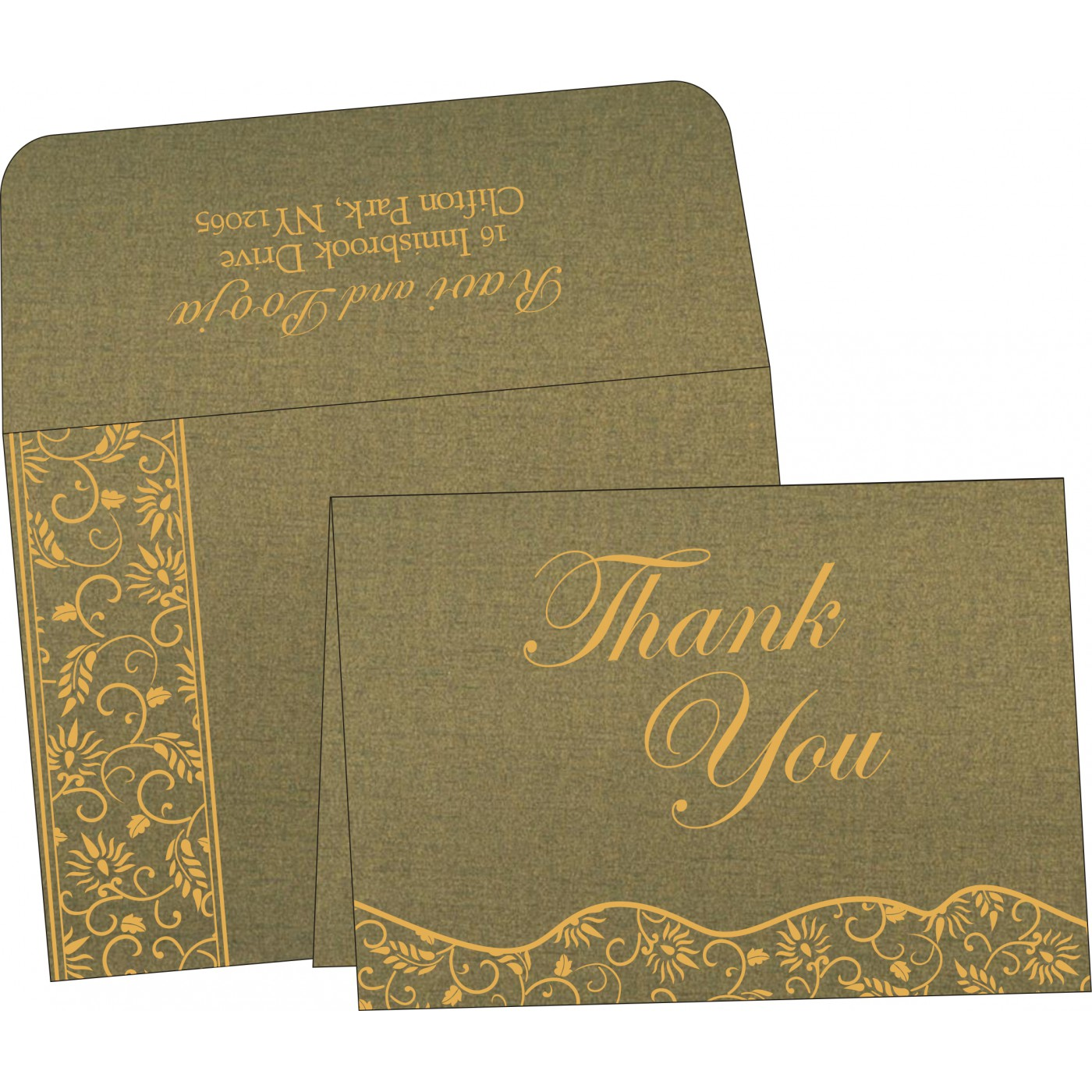 Thank You Cards : CTYC-8236H - IndianWeddingCards