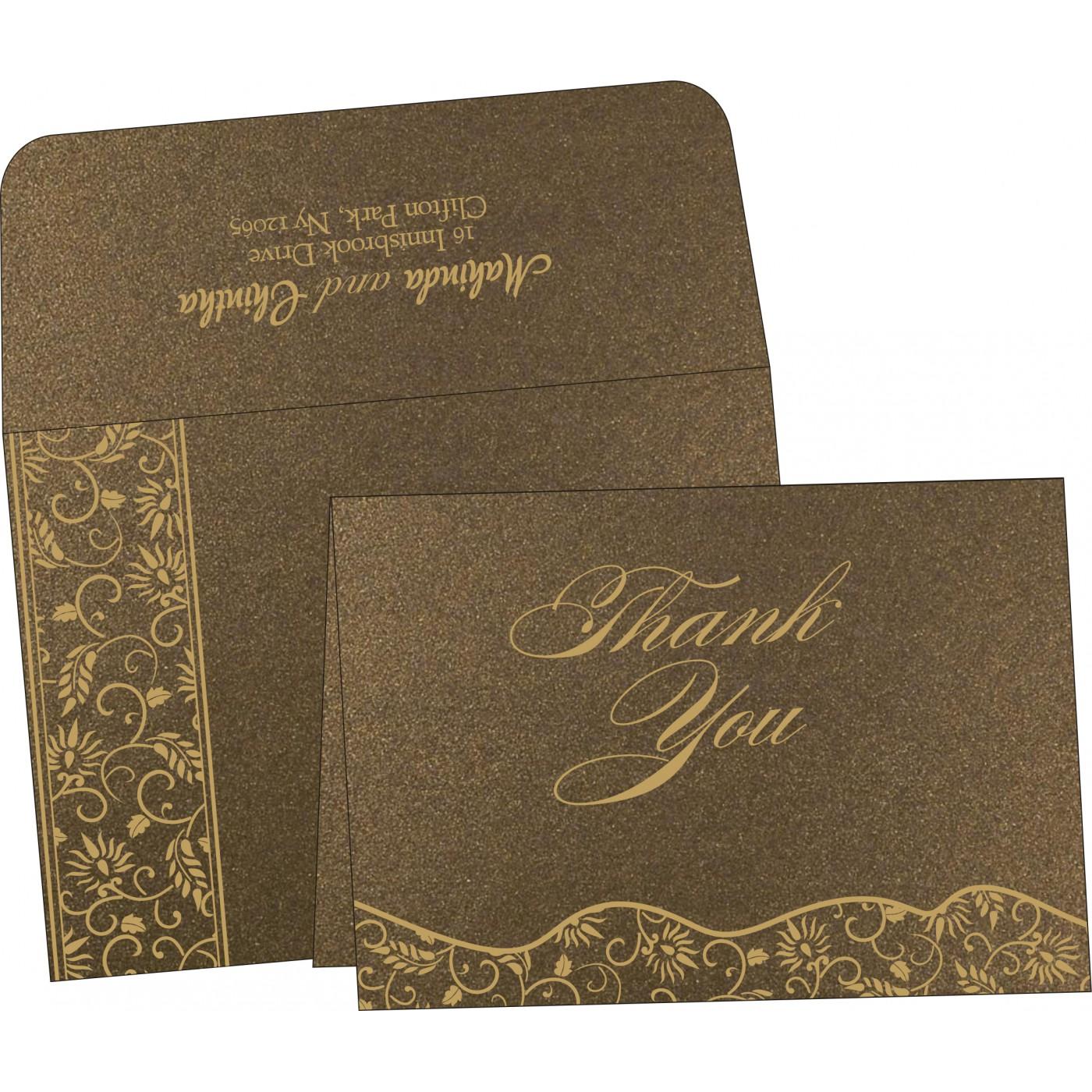 Thank You Cards : CTYC-8236I - IndianWeddingCards