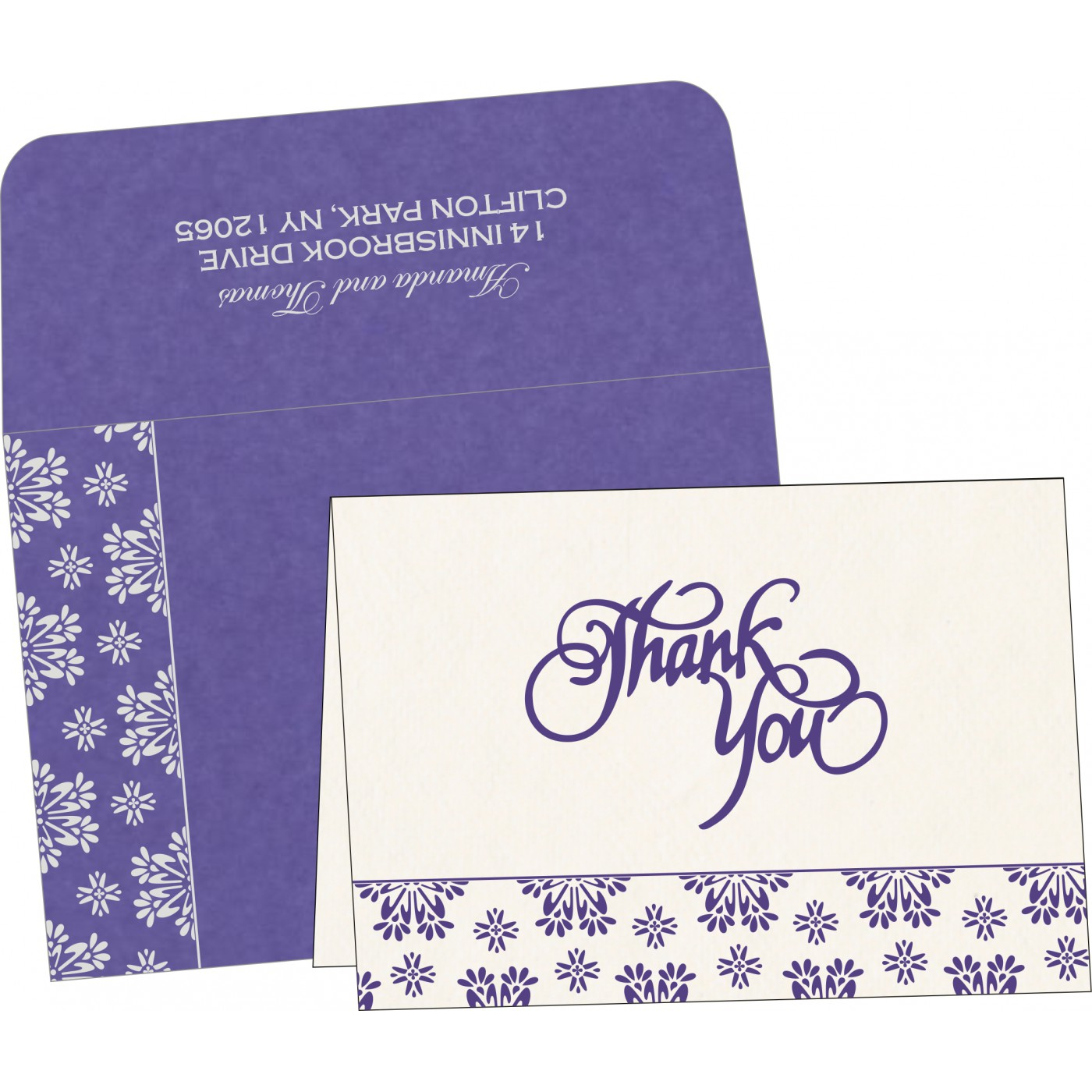 Thank You Cards : CTYC-8237A - IndianWeddingCards