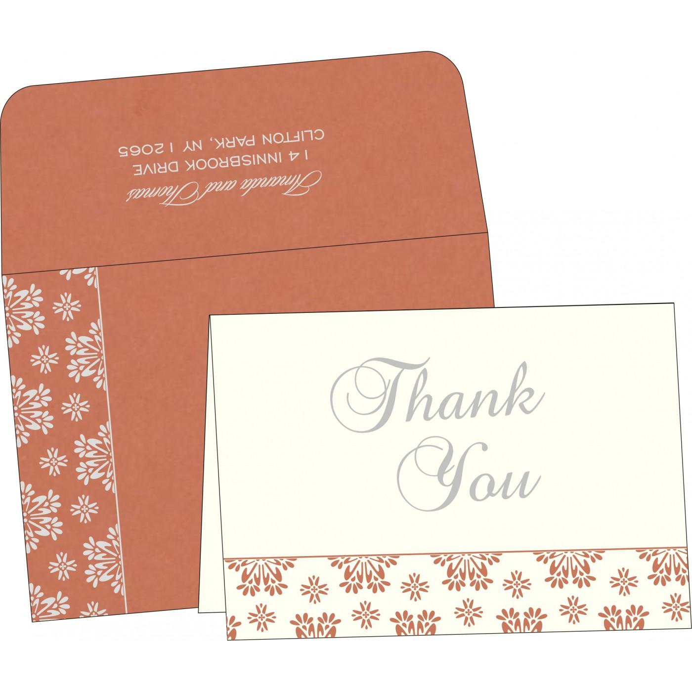Thank You Cards : CTYC-8237C - IndianWeddingCards