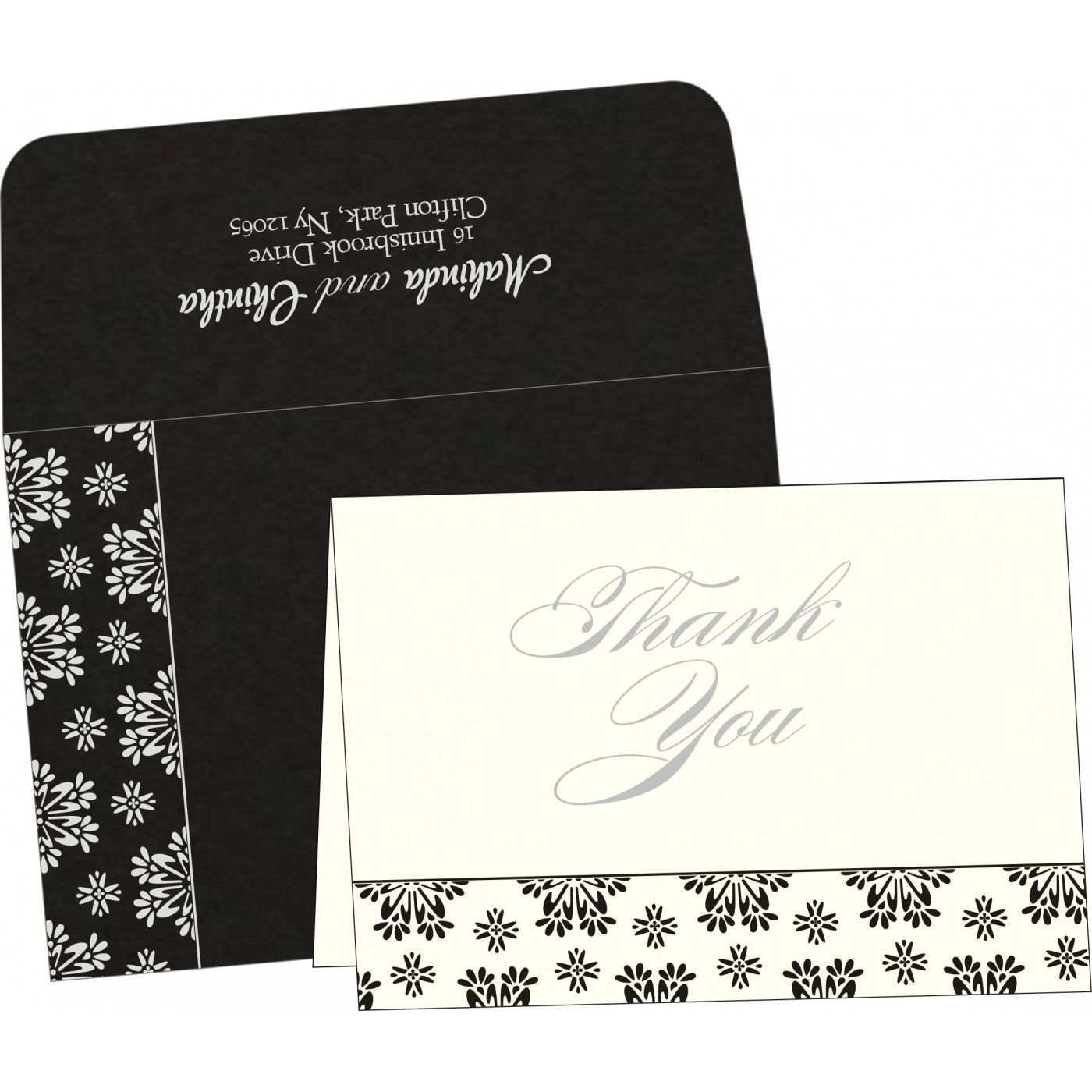 Thank You Cards : CTYC-8237H - IndianWeddingCards