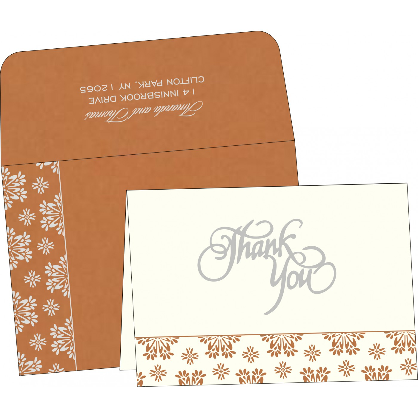 Thank You Cards : CTYC-8237J - IndianWeddingCards