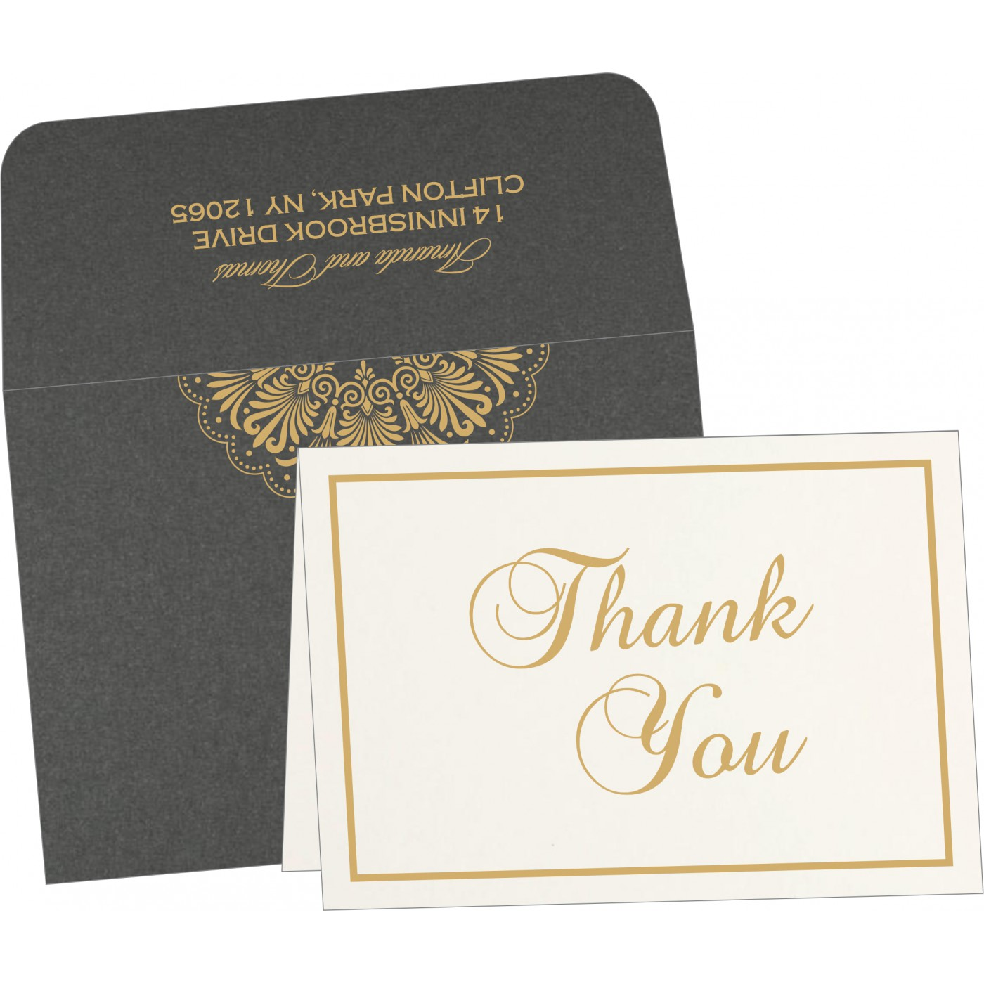 Thank You Cards : CTYC-8238D - IndianWeddingCards