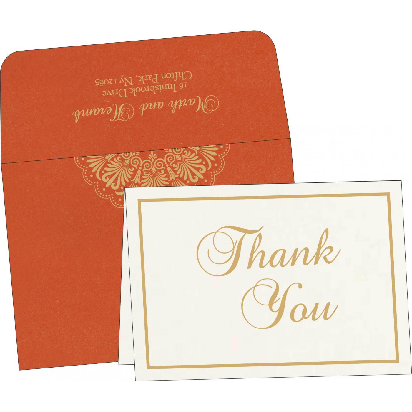 Thank You Cards : CTYC-8238F - IndianWeddingCards