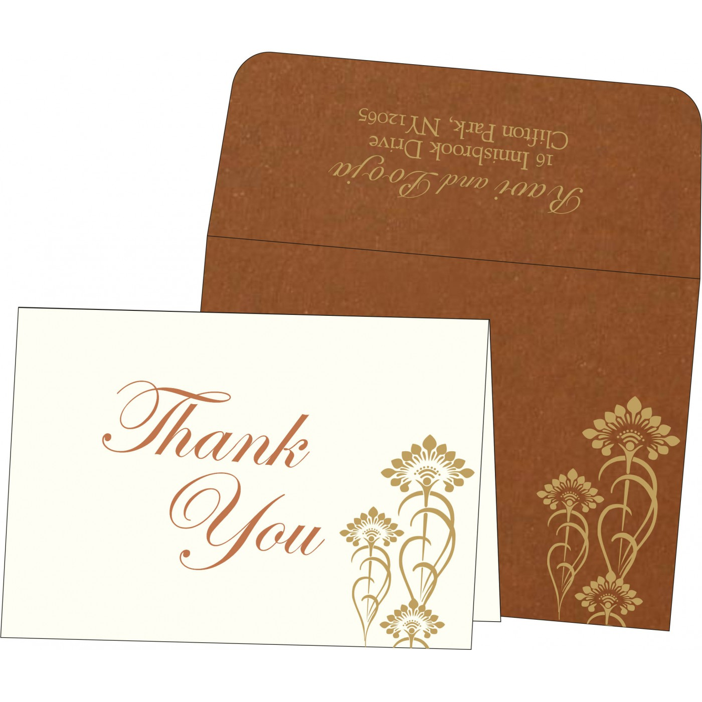 Thank You Cards : CTYC-8239H - IndianWeddingCards