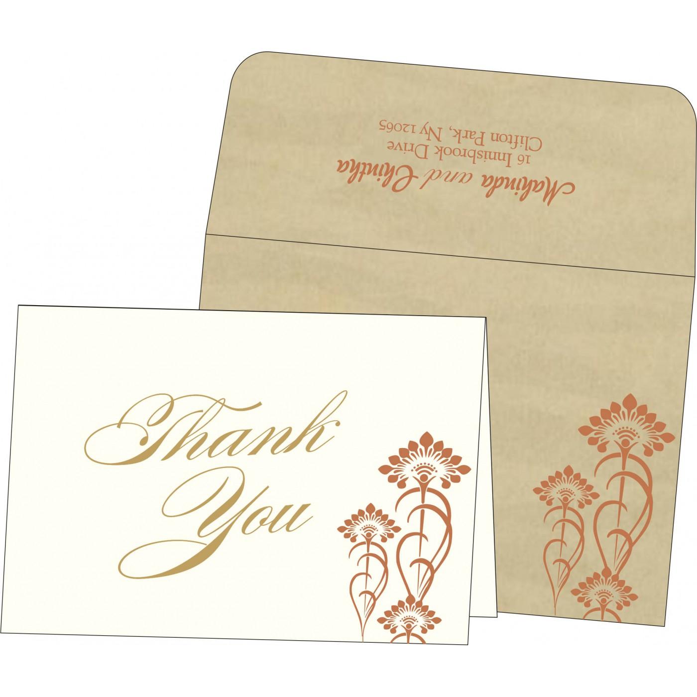Thank You Cards : CTYC-8239I - IndianWeddingCards