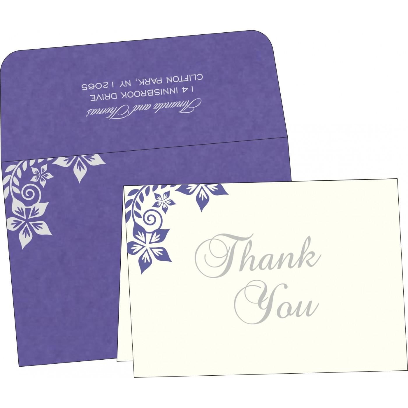Thank You Cards : CTYC-8240B - IndianWeddingCards