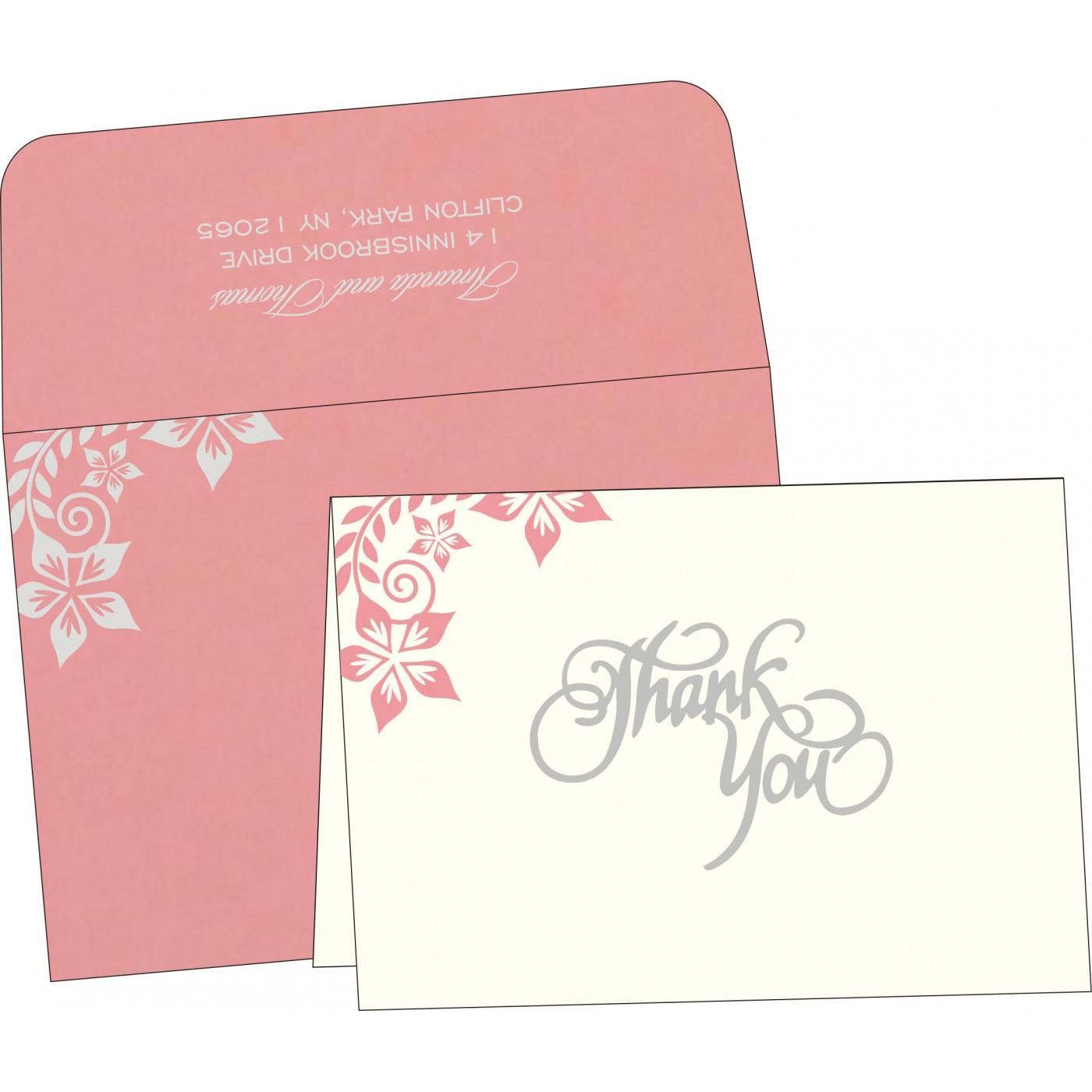 Thank You Cards : CTYC-8240G - IndianWeddingCards