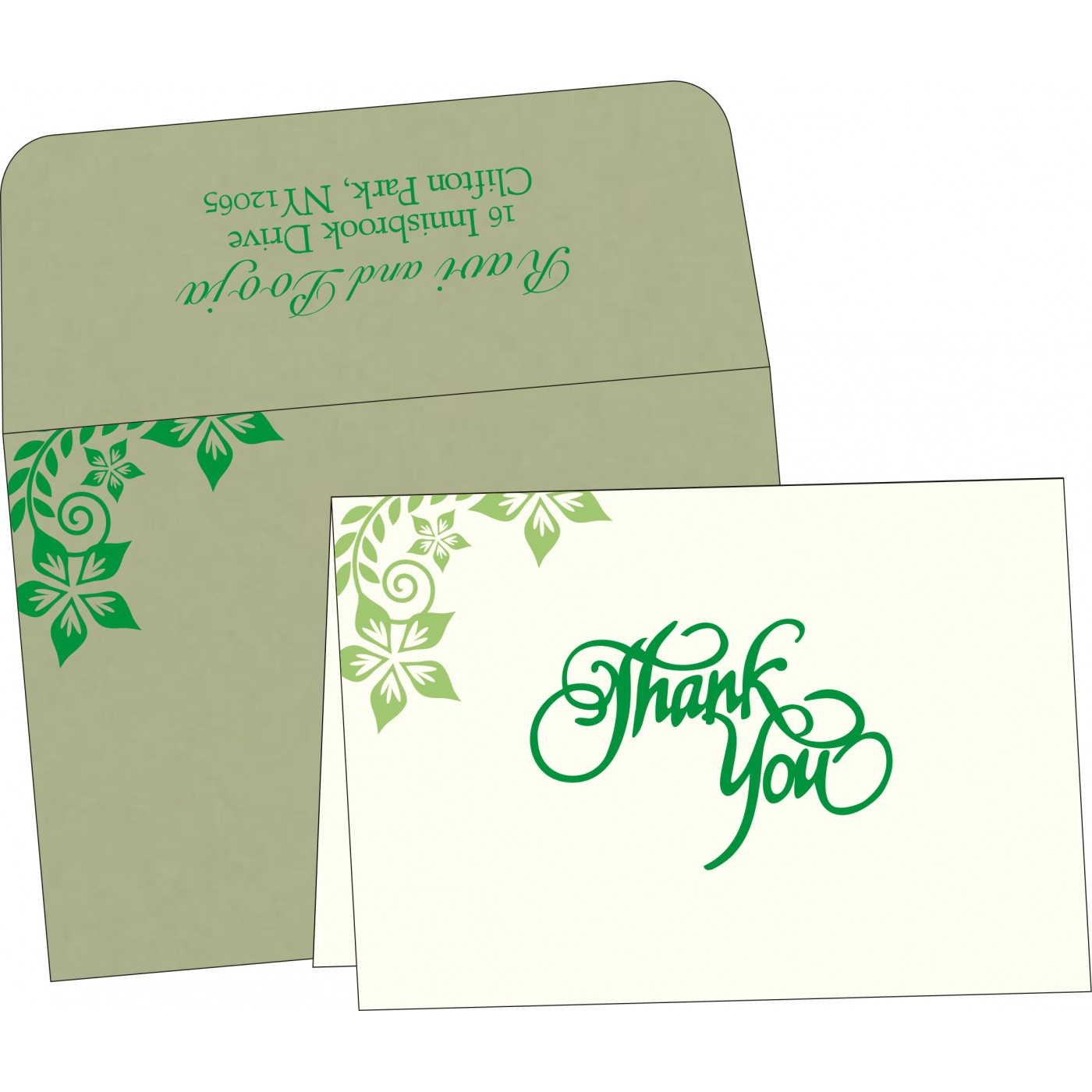 Thank You Cards : CTYC-8240I - IndianWeddingCards