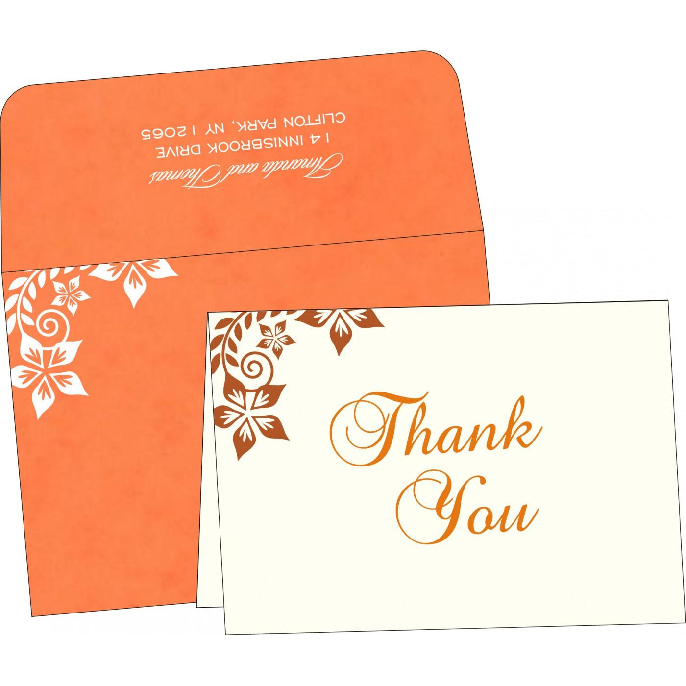 Thank You Cards : CTYC-8240M - IndianWeddingCards