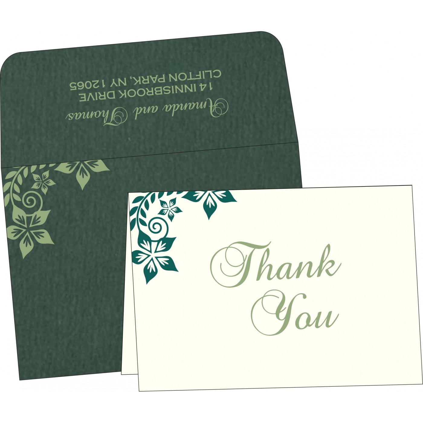 Thank You Cards : CTYC-8240N - IndianWeddingCards