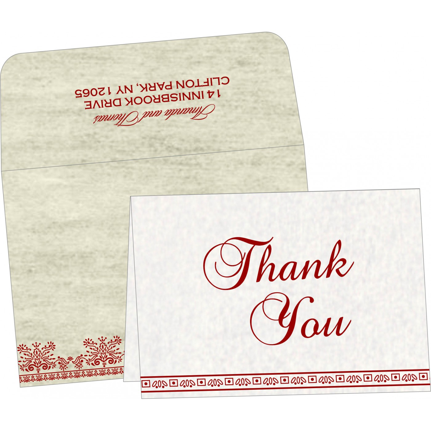 Thank You Cards : CTYC-8241B - IndianWeddingCards